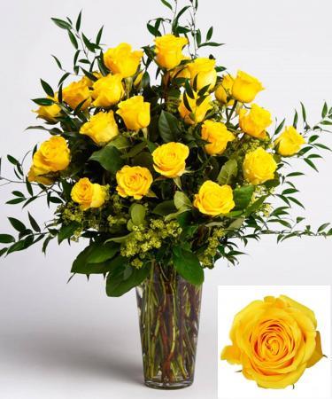 Yellow Roses Arranged Arrangement