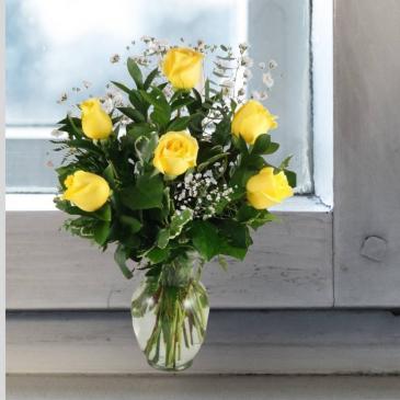 Yellow Roses-1/2 Dozen