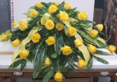 Yellow Roses Casket Spray