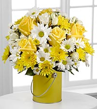 Yellow Roses & Daisies Color Your Day with Sunshine