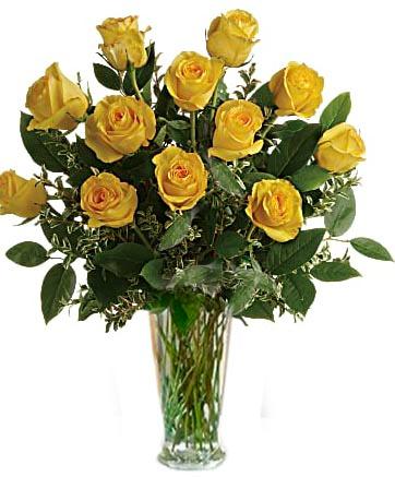 Yellow Roses 1 Dozen, 2 Dozen, or 3 Dozen