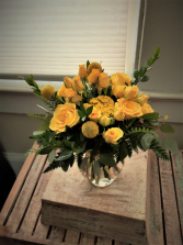 Yellow roses on my