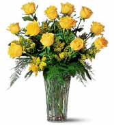 Sunny Yellow Roses Rose Arrangement