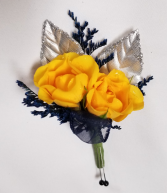 Yellow Spray Rose Boutonniere