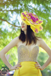 Yellow Statement Floral Headpiece  Flower Crown