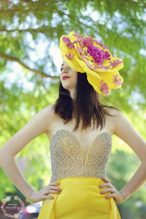 Yellow Statement Floral Headpiece  Flower Crown