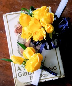 Yellow Sunshine Boutonnier and Corsage Match Set in Milwaukie, OR | Poppies and Paisley Events