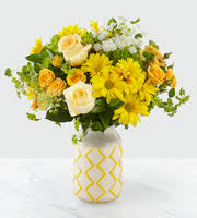 Yellow Sweet Arrangement Flower Arrangement
