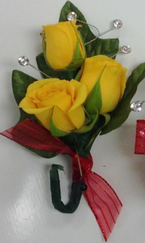 Yellow Tea Rose Boutonniere