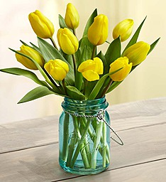 Yellow Tulip Arrangement Spring Flowers