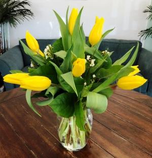 Yellow Tulips Arrangement in Bluffton, SC | BERKELEY FLOWERS & GIFTS