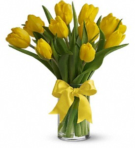 Yellow Tulips Floral Bouquet in Whitesboro, NY | KOWALSKI FLOWERS INC.