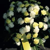 Yellow & White Carnation Spray Standing Spray