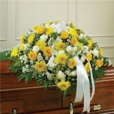Yellow & White Mixed Half Casket Cover