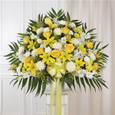 Yellow & White Standing Basket