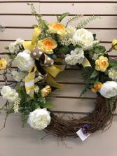 Yellow & White Wreath