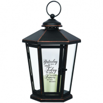 Yesterday, today & forever. Antique lighted Bronze lantern