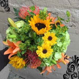 """Yesterday..."" Vased Arrangement in Auburn, AL 