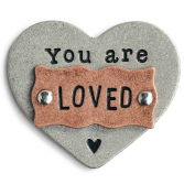 You are loved - heart token