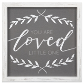 You Are Loved Little One Linen Sign