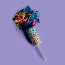 You are mermazing! Bath Bomb Confetti Push Up Aquamarine by Cait + Co