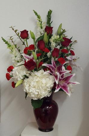 You Are My Beloved Red Vase Arrangement