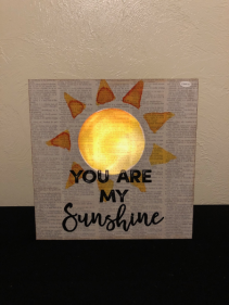 You Are My Sunshine Light Up Wood Sign - Batteries Not Included