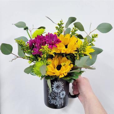 "Flower-Filled ""You Are My Sunshine"" Mug"