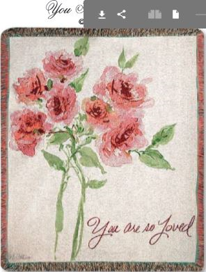 """ You Are So Loved"" Tapestry Throw Manual Wood Workers and Weavers"