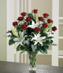 You are the Love of My Life Rose Lilly Arrangement