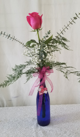 You are the One for Me Wine Bottle Bud Vase
