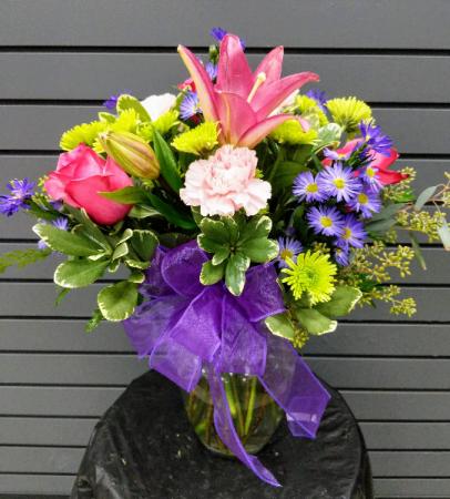 You Brighten my Life Fresh Vase Arrangement