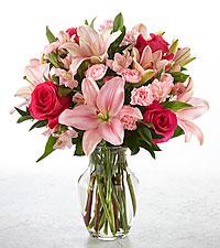 You Had Me at pink Vase Arrangement