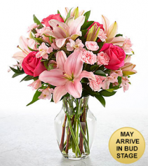 You Had Me At Pink Vase Arrangement