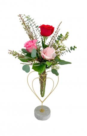 You have my Heart Mixed Rose Small Vase in Mantua, NJ | Lavender & Lace Florist & Gift Shop