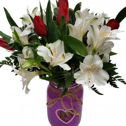 You Have My Heart vase arrangement