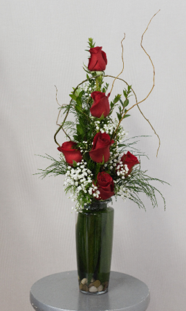 You Have My Love Half Dozen Roses Vased  in Port Huron, MI | CHRISTOPHER'S FLOWERS