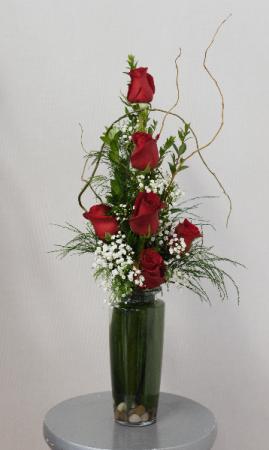 You Have My Love  Half Dozen Vased Roses in Port Huron, MI | CHRISTOPHER'S FLOWERS