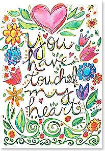 You have Touched my Heart  Thank You Card