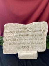 You Left Us Beautiful Memories Stone