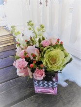 You Make Me Blush Cube Arrangement