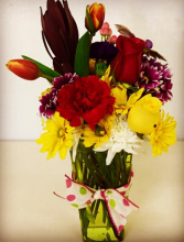 You Make Me Smile Contemporary Mixed Floral Arrangement