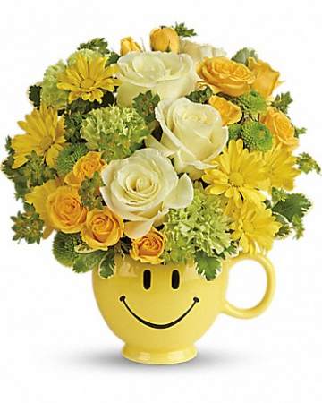 Smiley Surprise Flower Bouquet