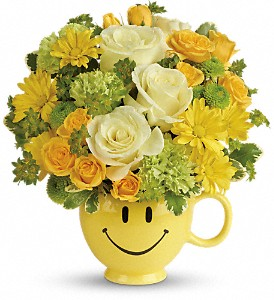 You Make Me Smile  fresh keepsake arrangement
