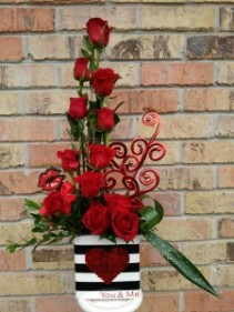 You & Me....All we need! dozen red roses