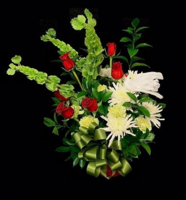 You Will Be Missed Basket Floral Arrangement