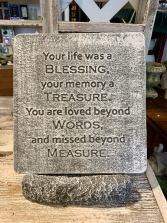 Your Life Was a Blessing Memorial Stone