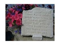 """Your Memory 11"""" x 10.5"""" Memorial Stone"""