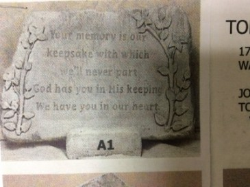 Your memory is our keepsake MEMORY STONE WITH EASEL