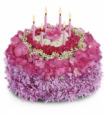 Your Special Day  Birthday Cake Shaped Arrangement